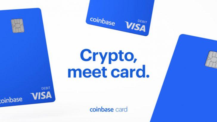 コインベース:暗号資産対応のVISAデビットカード「Coinbase Card」米国でも発行へ