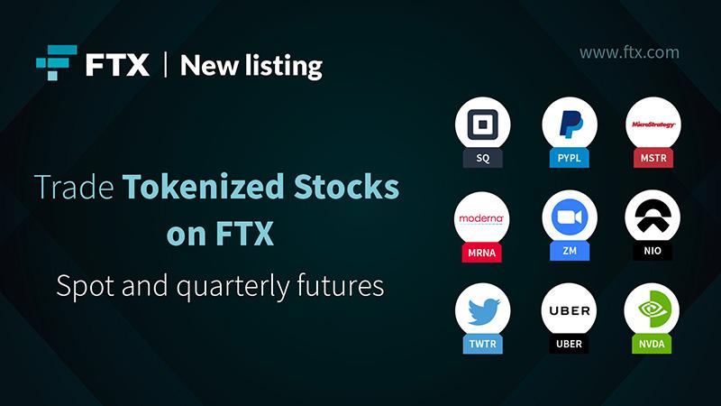Zoom・Uber・Squareなど「株式トークン9銘柄」を追加:暗号資産取引所FTX
