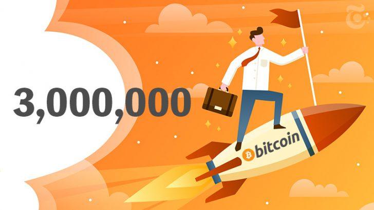 【速報】ビットコイン価格「300万円ライン」到達|今後予想される動きは?