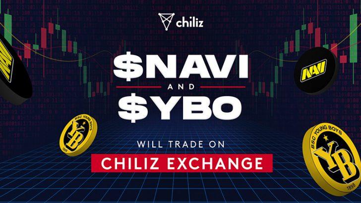 Chiliz Exchange:eスポーツ・サッカー関連の「2つのファントークン」取扱い開始