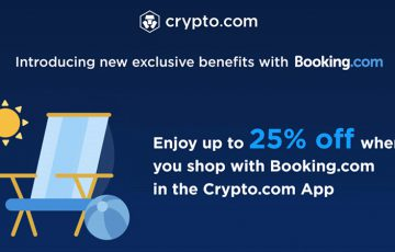 Crypto.com:旅行宿泊予約サイト「Booking.com」と提携|最大25%割引を提供