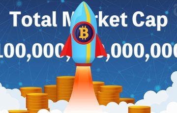 暗号資産市場全体の合計時価総額「100兆円」を突破|過去最高値を更新