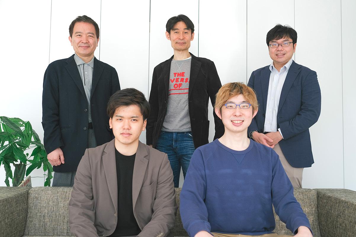 上段左から、村口氏、i-nest capital株式会社代表取締役社長 山中氏、同 放生會氏、下段左から、日本暗号資産市場 原沢氏、同代表取締役社長 岡部氏(画像:日本暗号資産市場株式会社)
