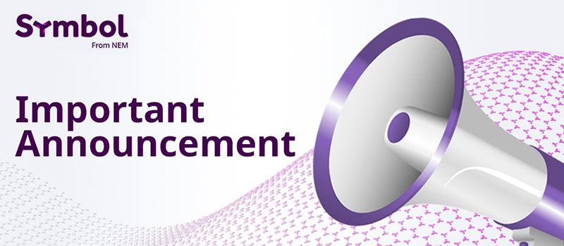 Symbol-XYM-Important-Announcement