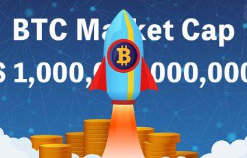 ビットコイン時価総額「1兆ドル」突破|BTC価格は600万円目前まで上昇