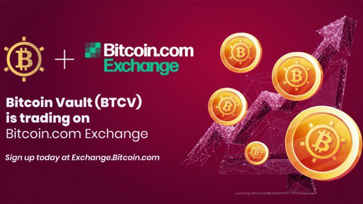 ビットコインボルト(BTCV)暗号資産取引所「Bitcoin.com Exchange」に上場