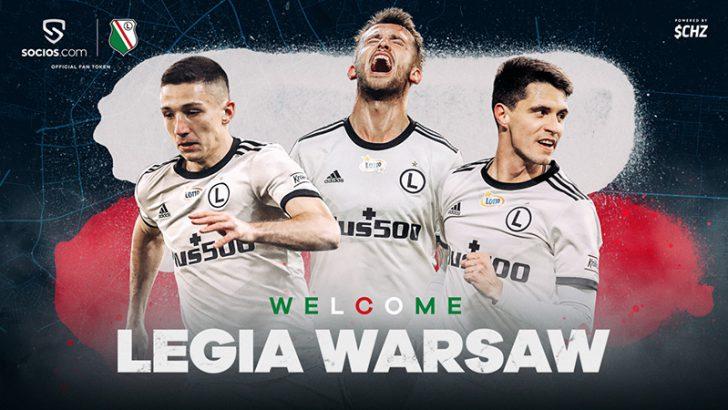 Chiliz:ポーランドの強豪サッカークラブ「レギア・ワルシャワ」と提携|$LEG発行へ