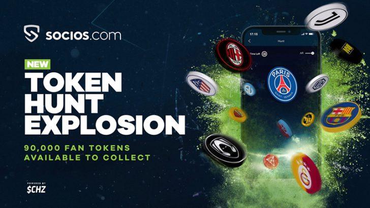 Socios.com:9万枚のファントークンを無料配布「Token Hunt Explosion」開催