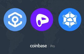 Coinbase Pro「CRV・STORJ・ANKR」の上場を発表|STORJ価格は100%以上高騰