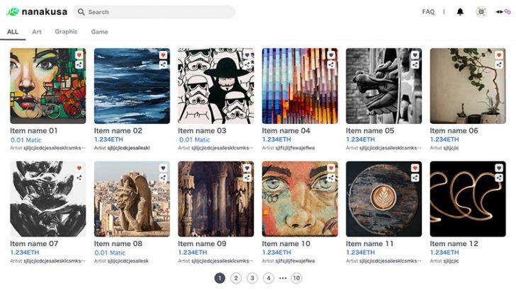 クリプトアーティスト登録制のNFTマーケットプレイス「nanakusa」公開へ