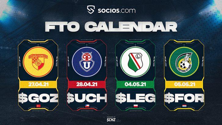 【Chiliz&Socios】4スポーツクラブの公式ファントークン「4月27日」から順次販売開始