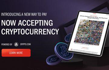 米TIME誌:Crypto.comと提携し「仮想通貨決済」に対応|BTC・ETHなど20種類以上
