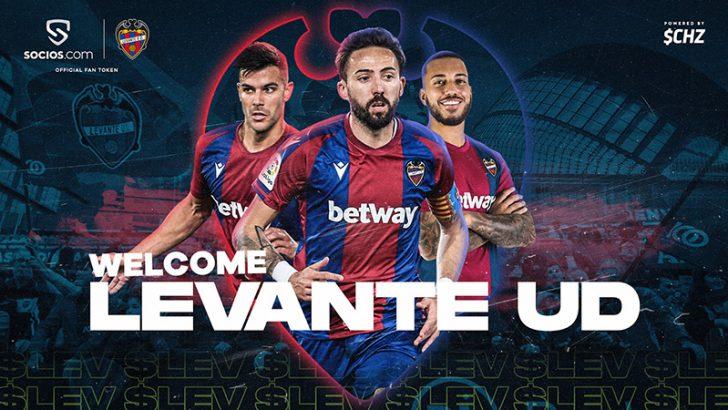 【Chiliz&Socios】スペインのサッカークラブ「レバンテUD」の$LEVファントークン発行へ