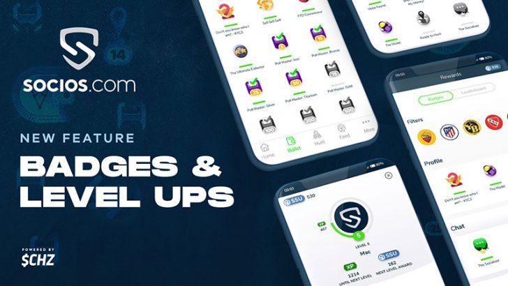 Sociosアプリ「バッジ・レベルアップ機能」追加|Fan Shopも近日公開