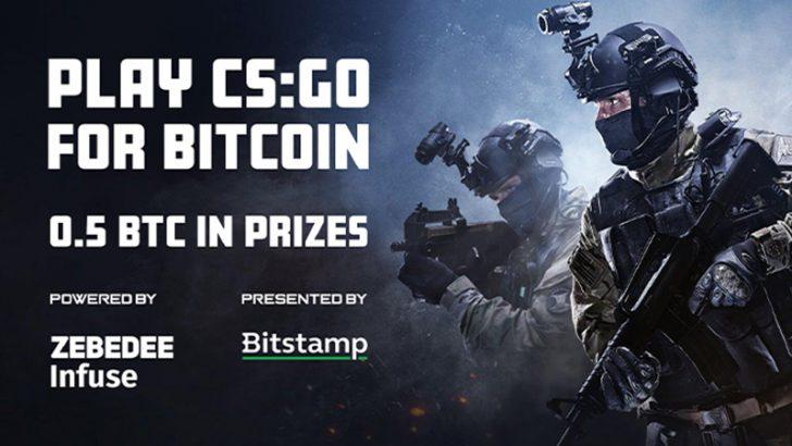 Bitstamp × ZEBEDEE:ビットコイン賞金付きの「カウンターストライク試合」開催へ