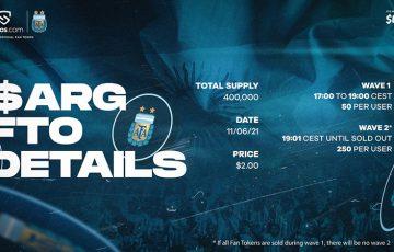 Chiliz&Socios:サッカーアルゼンチン代表チームの「$ARGトークン販売」詳細を発表