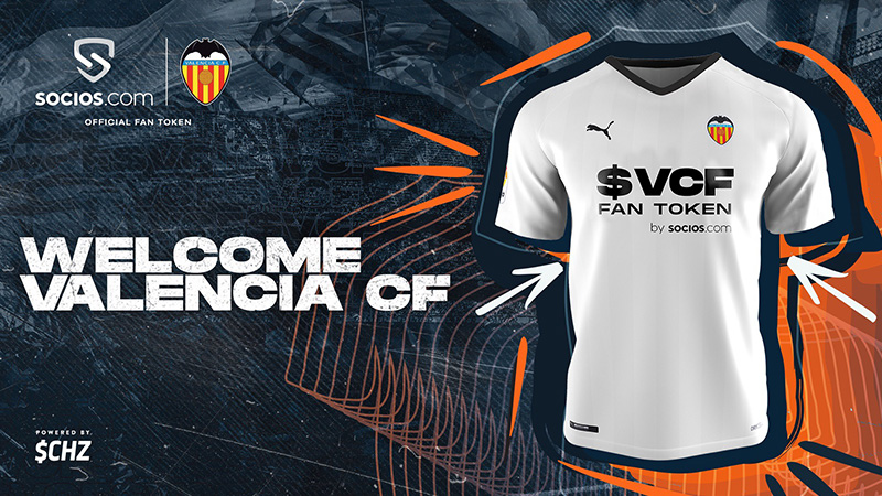Chiliz:スペインのサッカークラブ「Valencia CF」と提携 $VCFファントークン発行へ