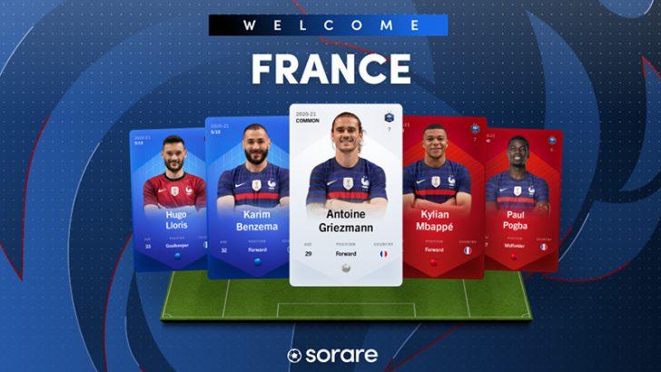 Sorare「サッカーフランス代表チームのNFT選手カード」発行へ