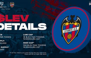 【Chiliz&Socios】Levante UDの「$LEVファントークン」本日販売開始