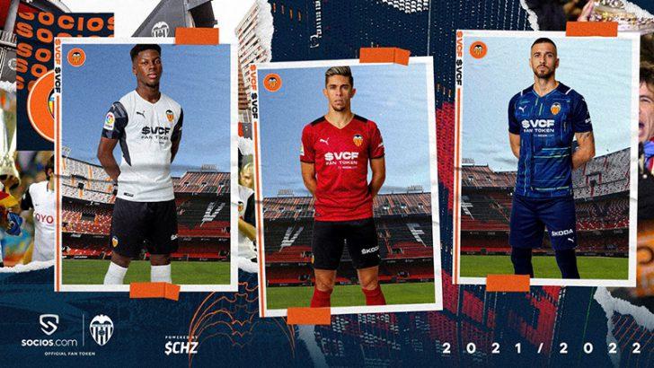Valencia CF「Sociosロゴ付きの新ユニフォーム」公開|ファントークンも近日発行予定
