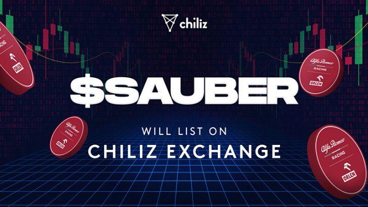 Chiliz Exchange:F1チーム「Alfa Romeo」の$SAUBERファントークン本日取扱い開始