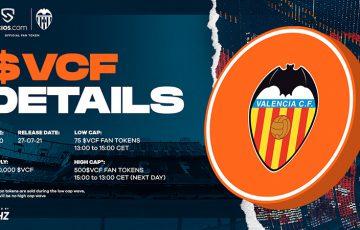 Socios.com:Valencia CFの「$VCFファントークン」本日20時販売開始