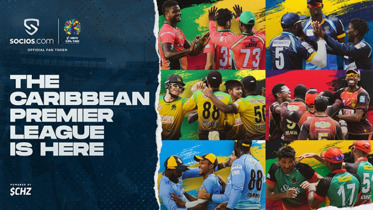 Socios.com:カリブ海地域のプロクリケットリーグ「Caribbean Premier League」提携