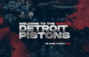 Socios.com:NBAチーム「Detroit Pistons(デトロイト・ピストンズ)」と提携