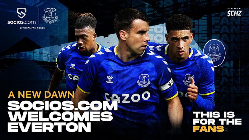 Chiliz&Socios「Everton FC(エヴァートンFC)」と提携|$EFCファントークン発行へ