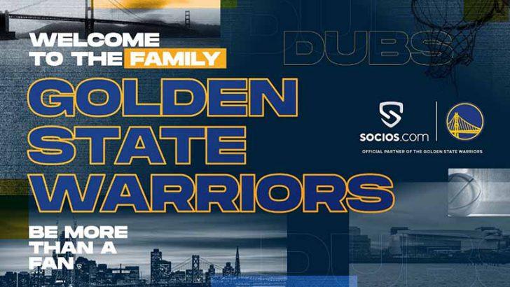 Socios.com:NBAチーム「ゴールデンステート・ウォリアーズ」と提携