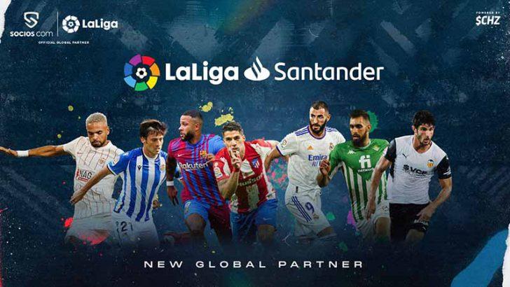 Socios.com:スペイン・プロサッカーリーグ「LaLiga(ラ・リーガ)」と提携