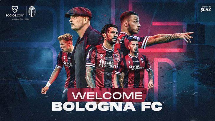 Chiliz&Socios:イタリアの古豪クラブ「Bologna FC」と提携|$BFCファントークン発行へ